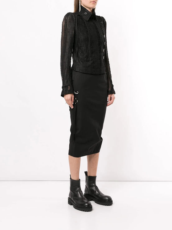 ANN DEMEULEMEESTER WOMEN LACE MILITARY SHORT JACKET