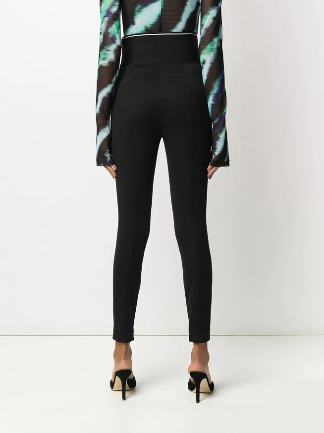 ALEXANDER WANG WOMEN LEGGING WITH EXPOSED ZIPPER AND LOGO ELASTIC