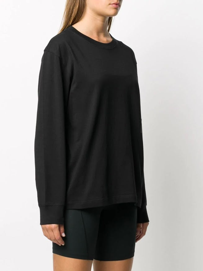 T BY ALEXANDER WANG FOUNDATION JERSEY LS TEE W/ PUFF PAINT LOGO