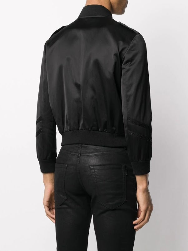 SAINT LAURENT MEN SATIN TEDDY JACKET