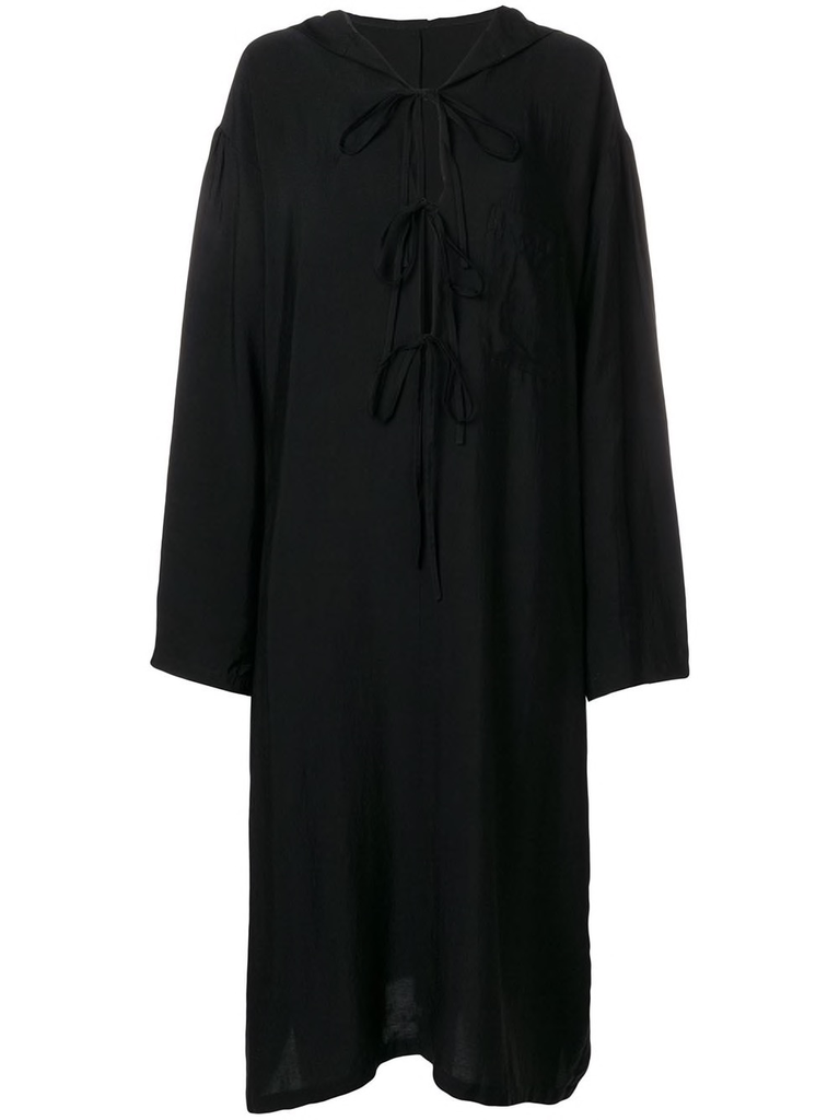 Y~S WOMEN HOODED DRESS