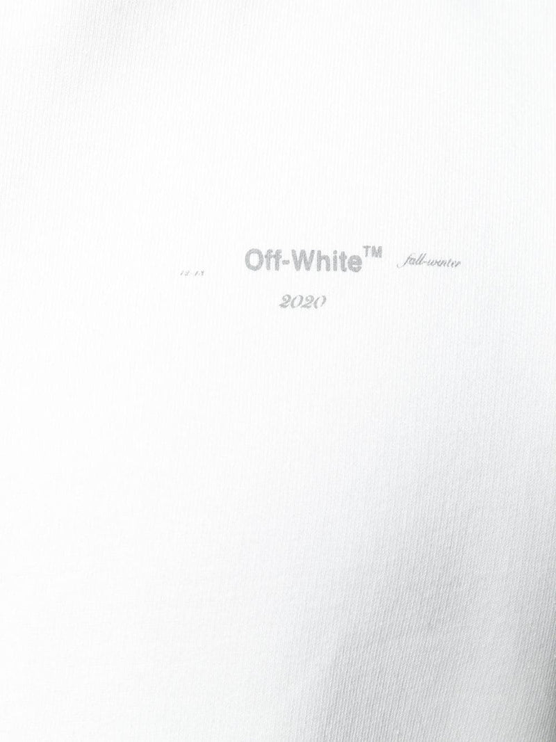 OFF-WHITE DIAG UNFINISHED SLIM CREWNECK