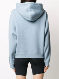 T BY ALEXANDER WANG WOMEN FOUNDATION  TERRY HOODIE WITH PUFF PAINT LOGO