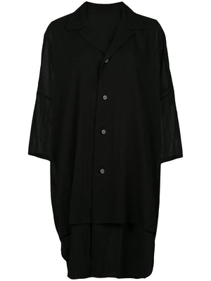 Y'S WOMEN UNBALANCED SHIRT