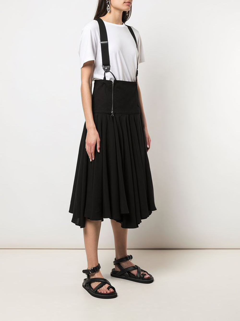 Y'S WOMEN MILITARY WRAP SKIRT
