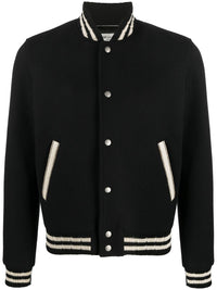 SAINT LAURENT MEN COLLEGE TEDDY JACKET