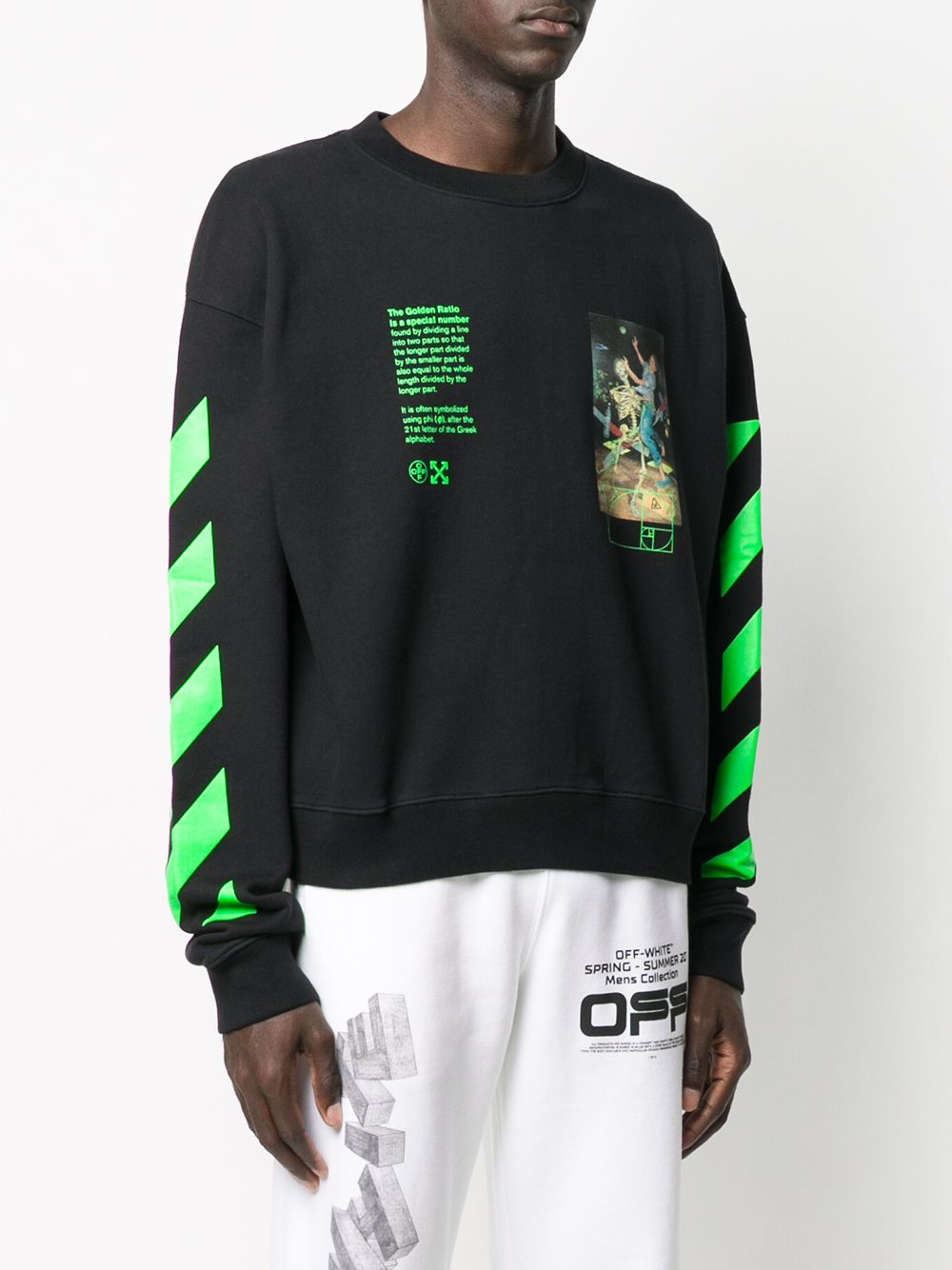 OFF WHITE MEN PASCAL PAINTING OVER CREWNECK