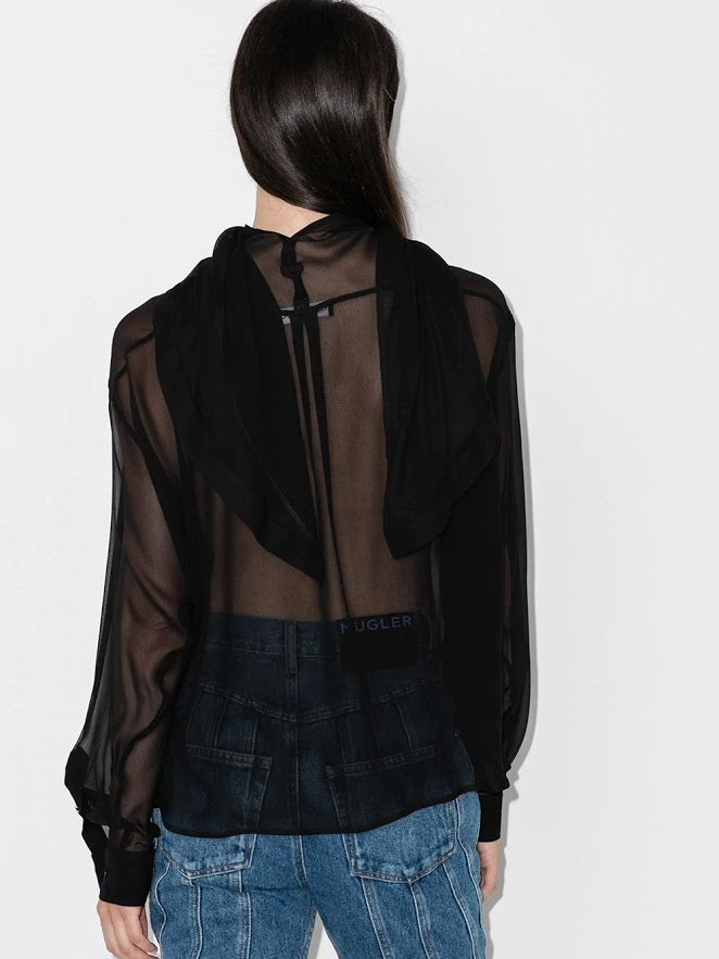 Y/PROJECT WOMEN WRAP SCARF BLOUSE