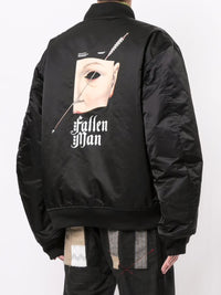 UNDERCOVER MEN PRINTED REVERSIBLE BOMBER JACKET