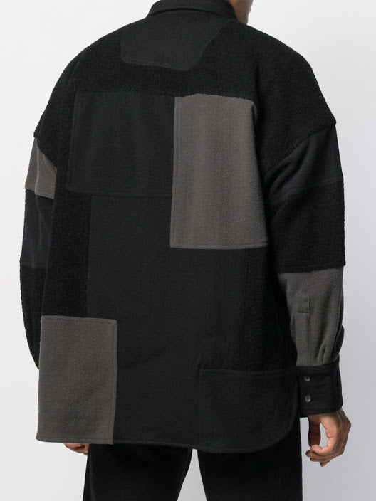 AMBUSH UNISEX FLEECE PATCHWORK SHIRT