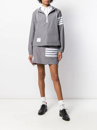 THOM BROWNE WOMEN SWING ANORAK IN FLYWEIGHT TECH
