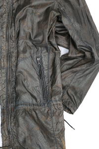 DEEPTI SILVER REVERSIBLE LONG BOMBER JACKET