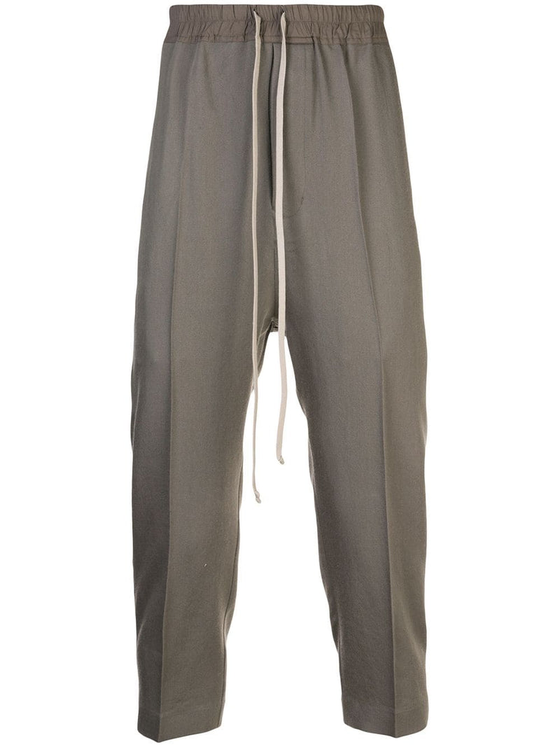 RICK OWENS MEN DRAWSTRING ASTAIRES CROPPED PANTS
