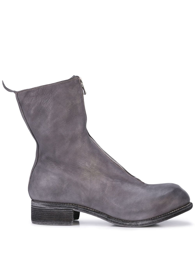 GUIDI MEN PL2 HORSE LEATHER FRONT ZIP BOOTS