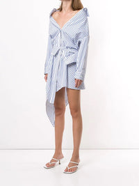 ALEXANDER WANG WOME ASYMMETRIC DECONSTRUCTED SHIRT DRESS