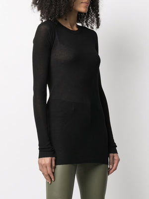 RICK OWENS WOMEN LONG SLEEVE RIB T