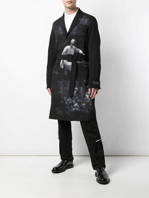 UNDERCOVER MEN CINDY SHERMAN PRINT TRENCH COAT