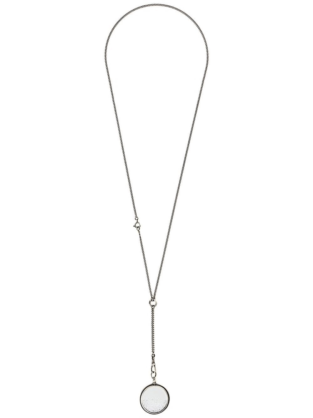 ANN DEMEULEMEESTER WOMEN SWAROVSKI CRYSTAL MEDALLION NECKLACE