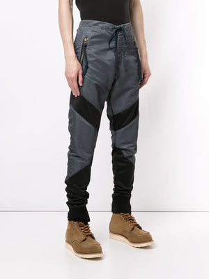 GREG LAUREN MEN WASHED SATIN PERFORMACE LOUNGE AIR FORCE PANTS
