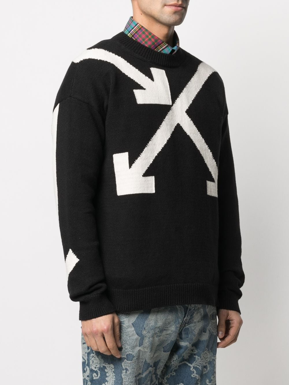 OFF-WHITE MEN TWISTED ARROWS KNIT CREWNECK