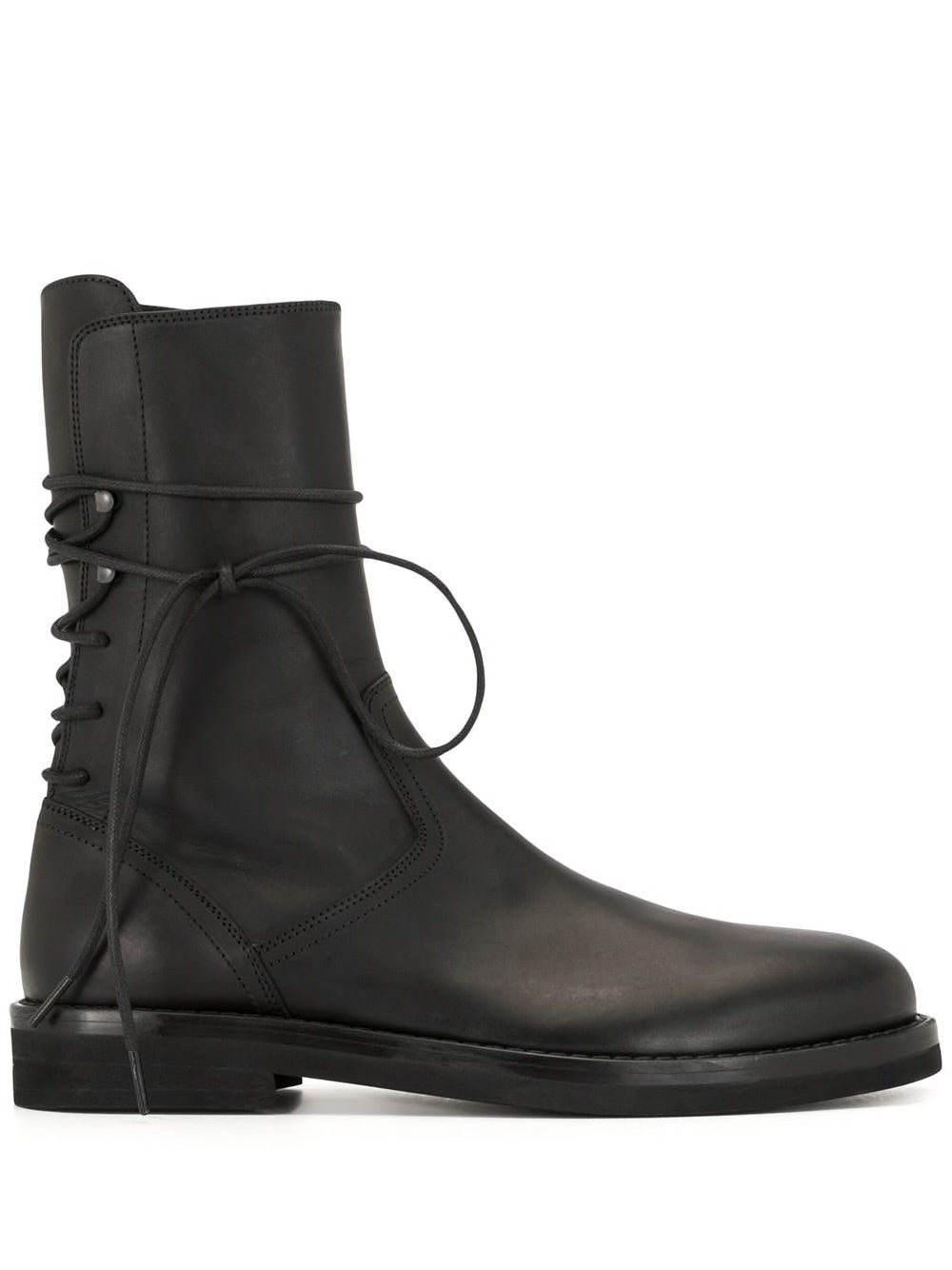 ANN DEMEULEMEESTER MEN CLASSIC BACK LACE UP BOOTS