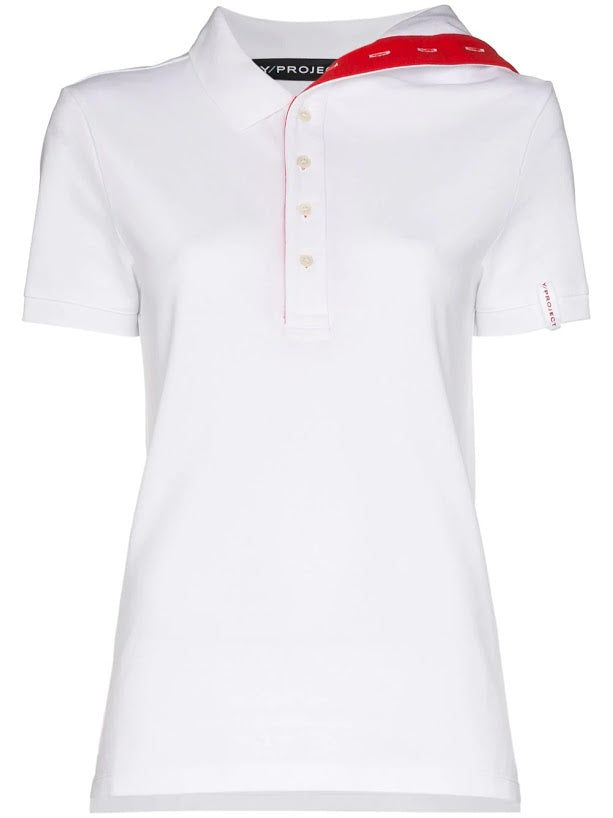 Y/PROJECT UNISEX FITTED ASYMMETRIC COLLAR POLO