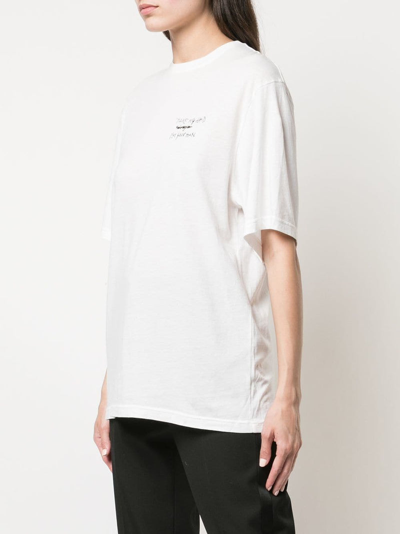 HAIDER ACKERMANN WOMEN SMALL EMBROIDERED T-SHIRT
