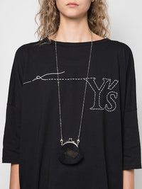 Y'S WOMEN WOOL PATCHWORK CLASP NECKLACE