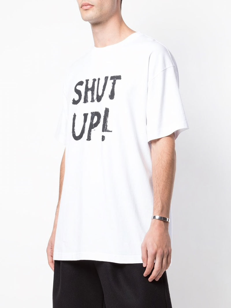 VETEMENTS MEN REGULAR SHUT UP T-SHIRT