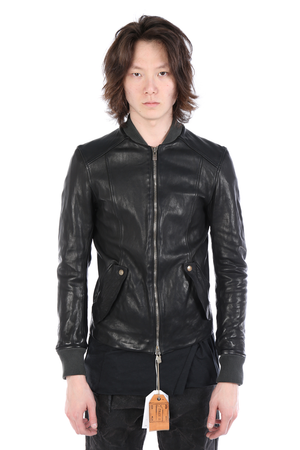 GUIDI X LAYER-0 BBM MEN BOMBER LEATHER JACKET