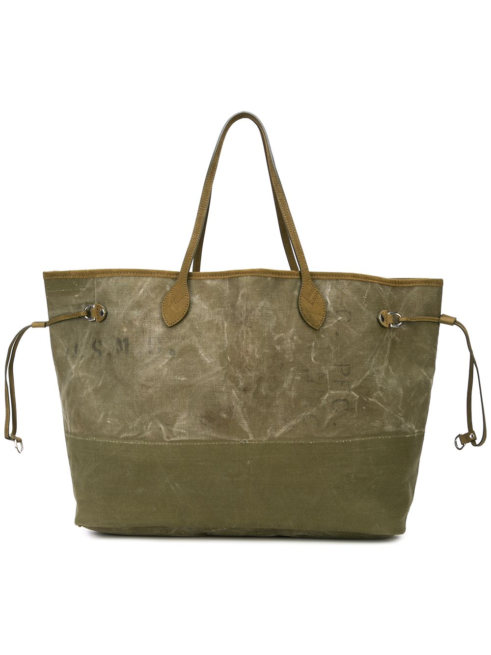 READYMADE VINTAGE ARMY TENT ROOMY BAG