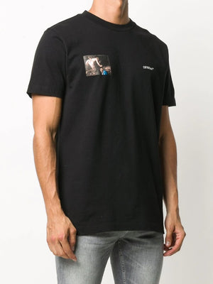 OFF-WHITE MEN CARAVAGGIO ANGEL S/S SLIM TEE