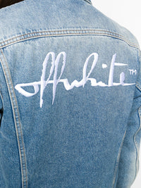 OFF-WHITE WOMEN DENIM LONG JACKET