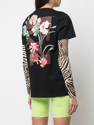 OFF WHITE WOMEN FLOWERS CARRYOVER CASUAL TEE
