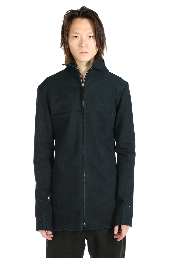 MA+ MEN UNLINED LONG HOODED AVIATOR JACKET