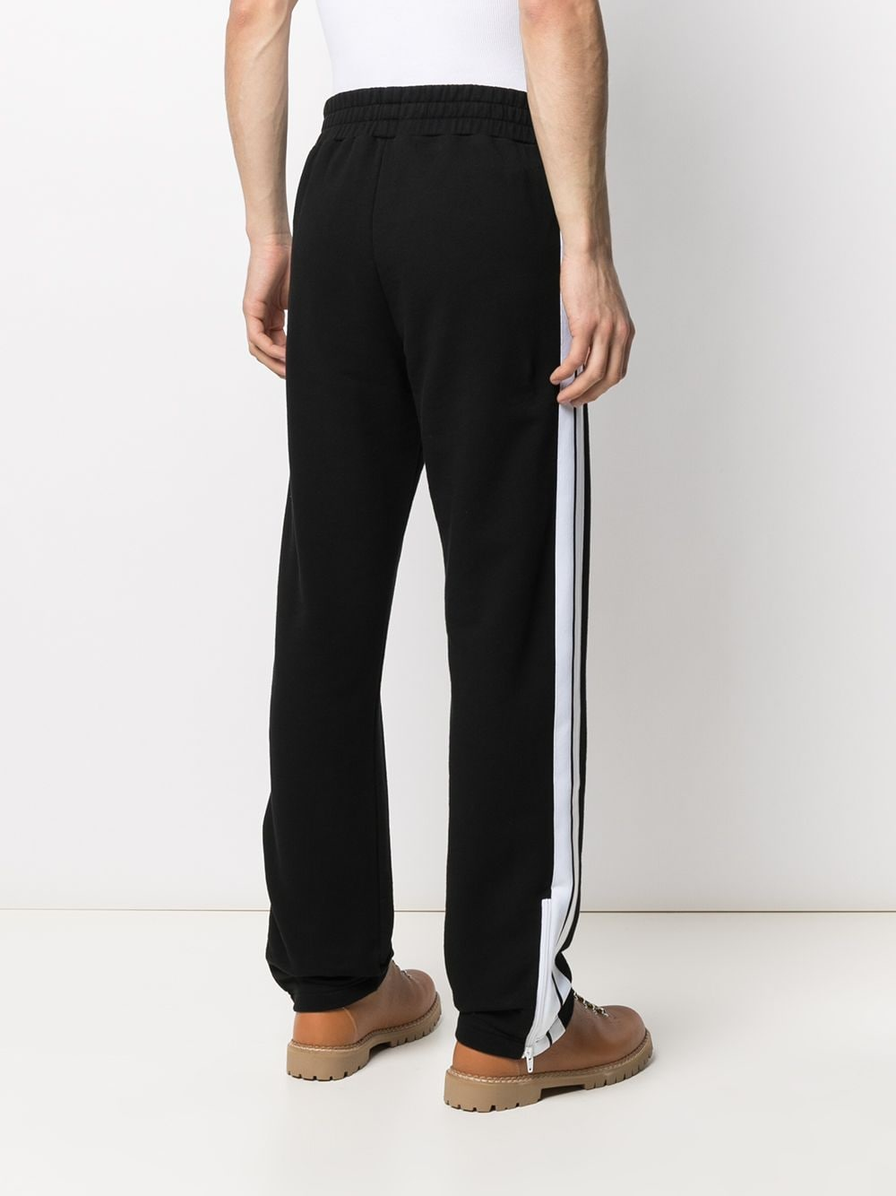 PALM ANGELS MEN FLEECE TRACK PANTS