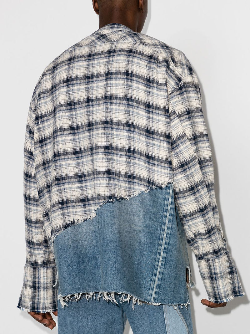 GREG LAUREN MEN RIVER/DENIM 50-50 BOXY STUDIO SHIRT