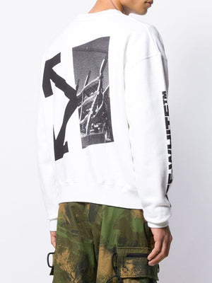 OFF WHITE MEN SPLITTED ARROWS OVER CREWNECK