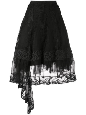 MARC LE BIHAN WOMEN LACE MESH SKIRT