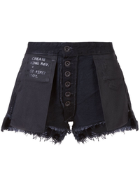 UNRAVEL WOMEN STONE DENIM REVERSE SHORTS