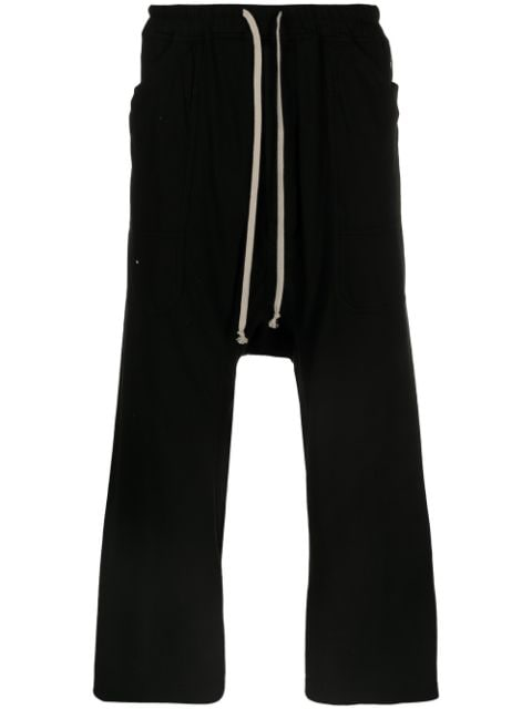RICK OWENS DRKSHDW MEN CARGO DRAWSTRING CROPPED PANTS