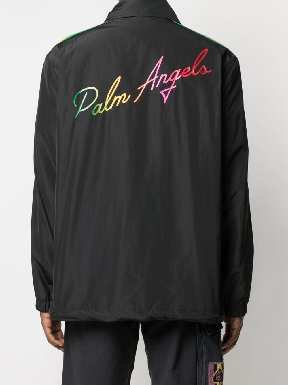 PALM ANGELS MEN MIAMI LOGO COACH JACKET