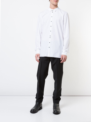LABEL UNDER CONSTRUCTION MEN INVISIBLE BUTTONHOLES SHIRT