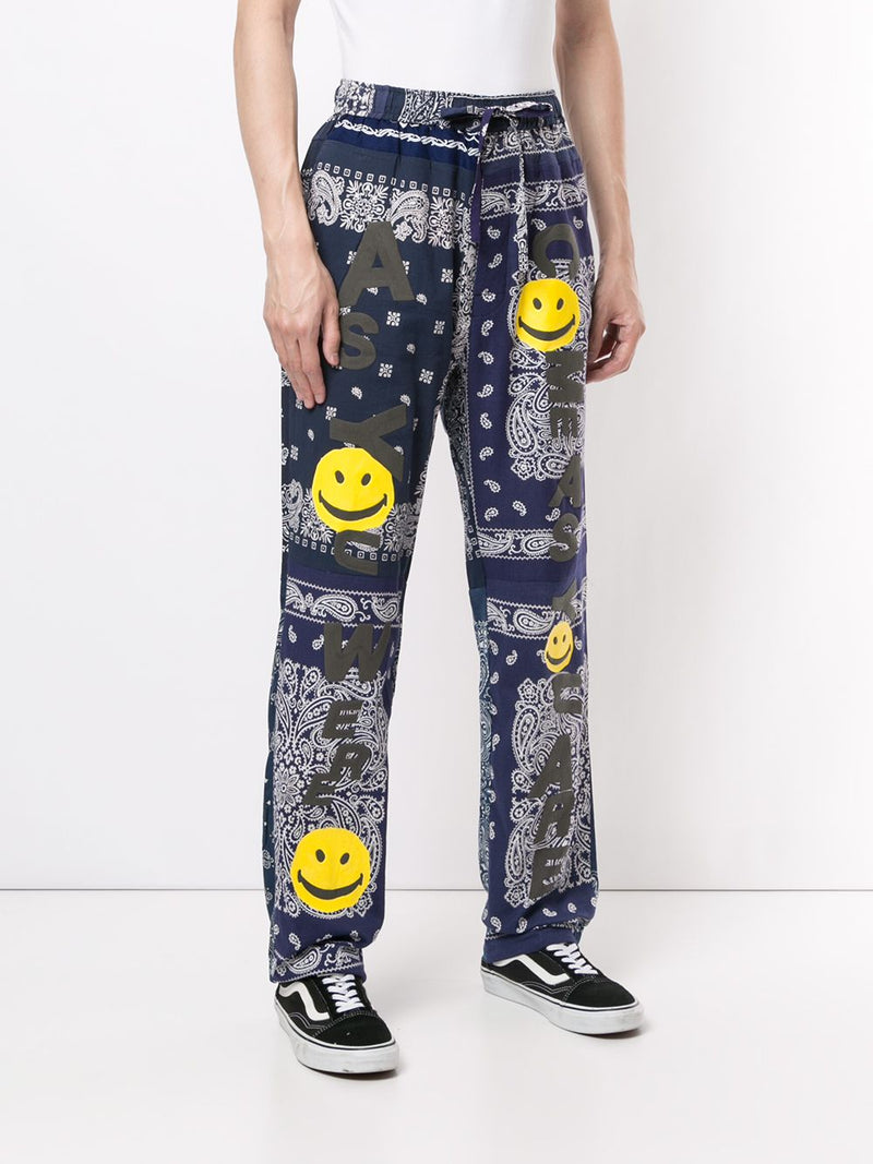READYMADE BANDANA FIRE SMILE SLEEPING PANTS