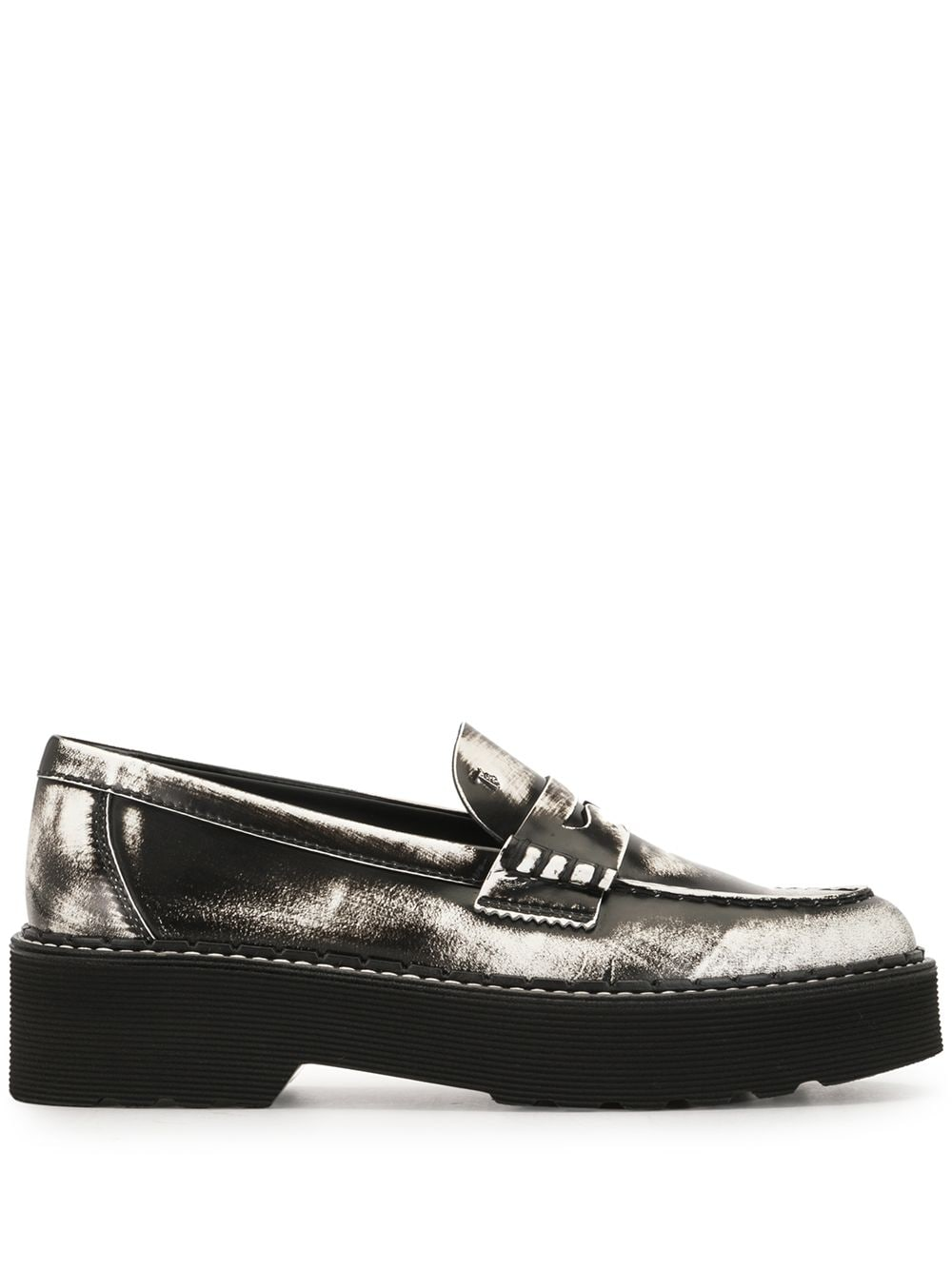 TOD'S WOMEN CARRARMATO 80C PAINTED PENNY LOAFER