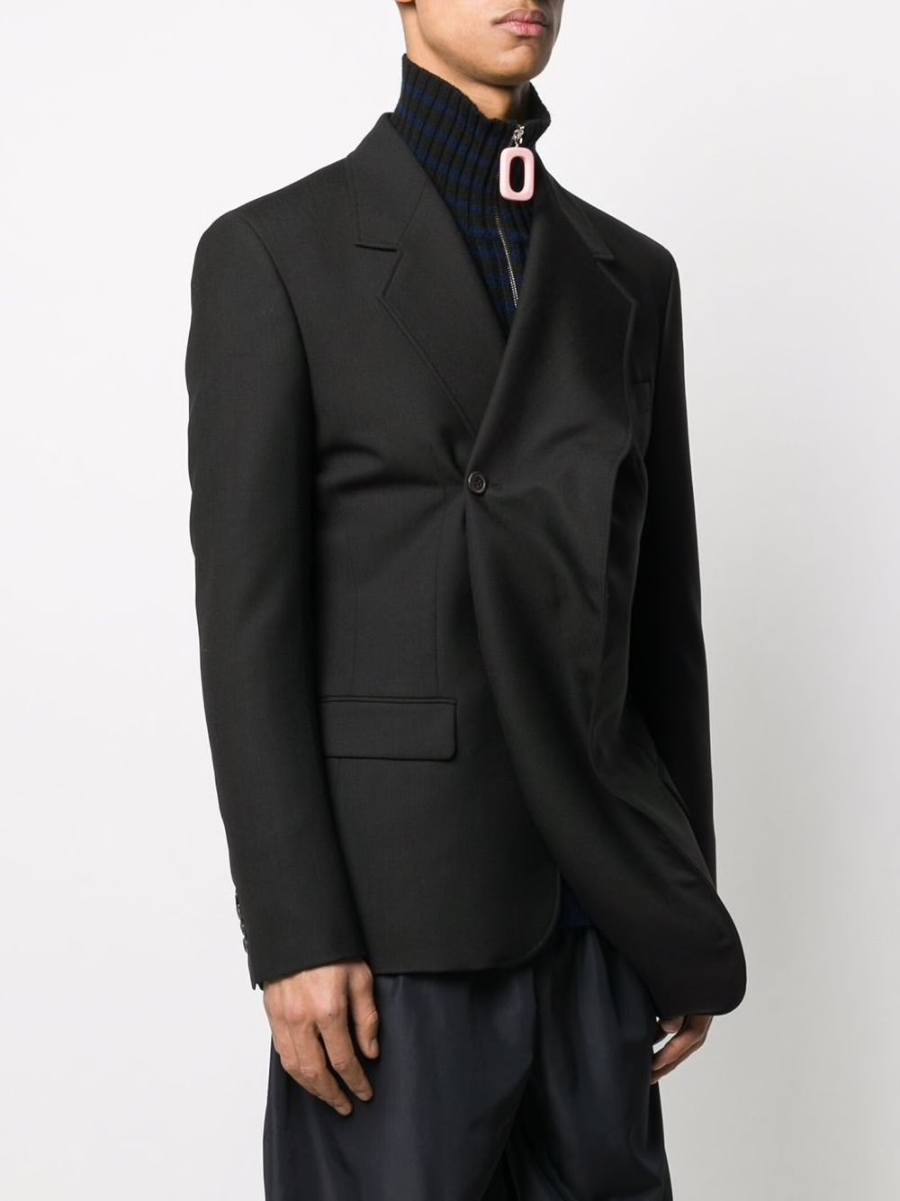 Y/PROJECT UNISEX TWISTED LAPEL BLAZER