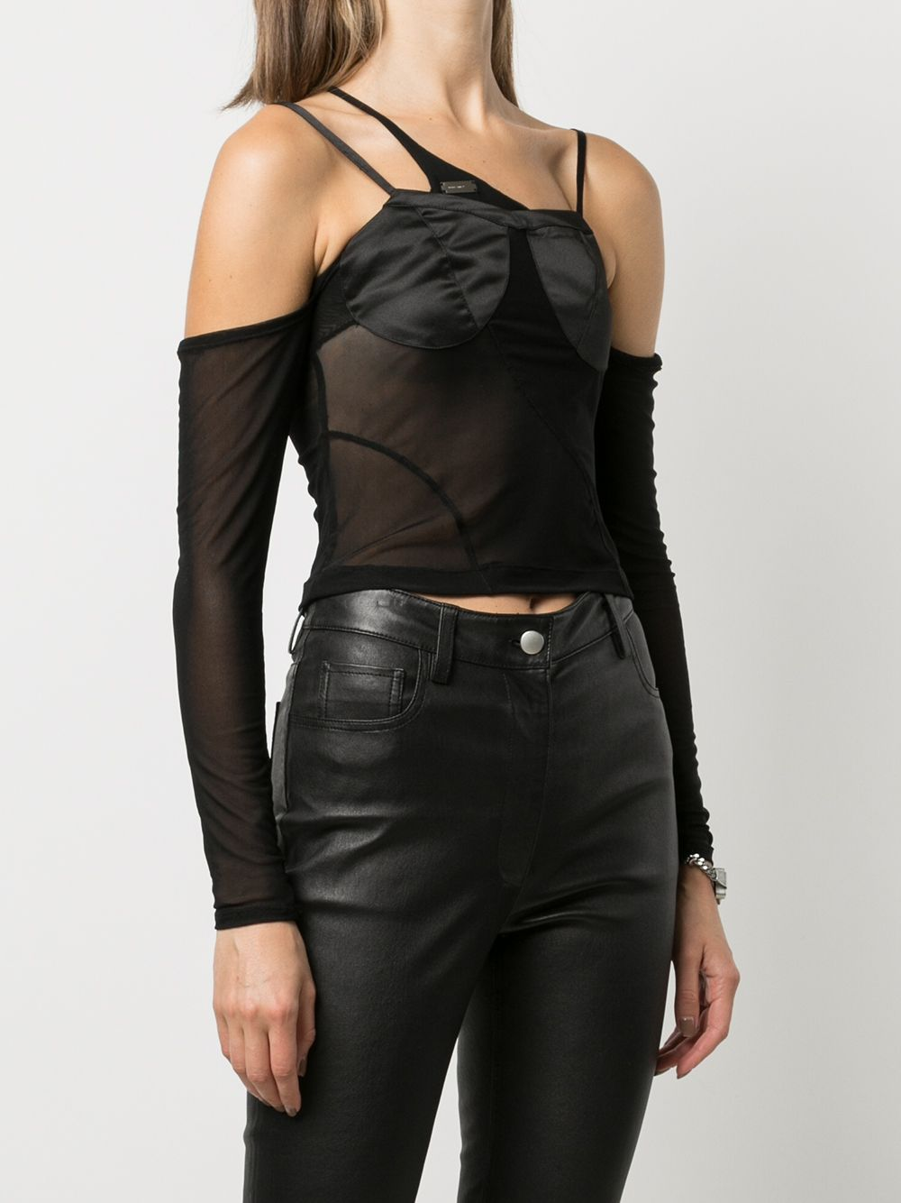 HELIOT EMIL WOMEN SHEER TOP WITH BRA DETAIL