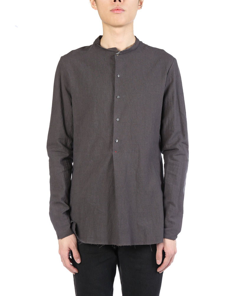 MA+ MEN SHORT COLLAR 3/4BUTTON FITTED SHIRT