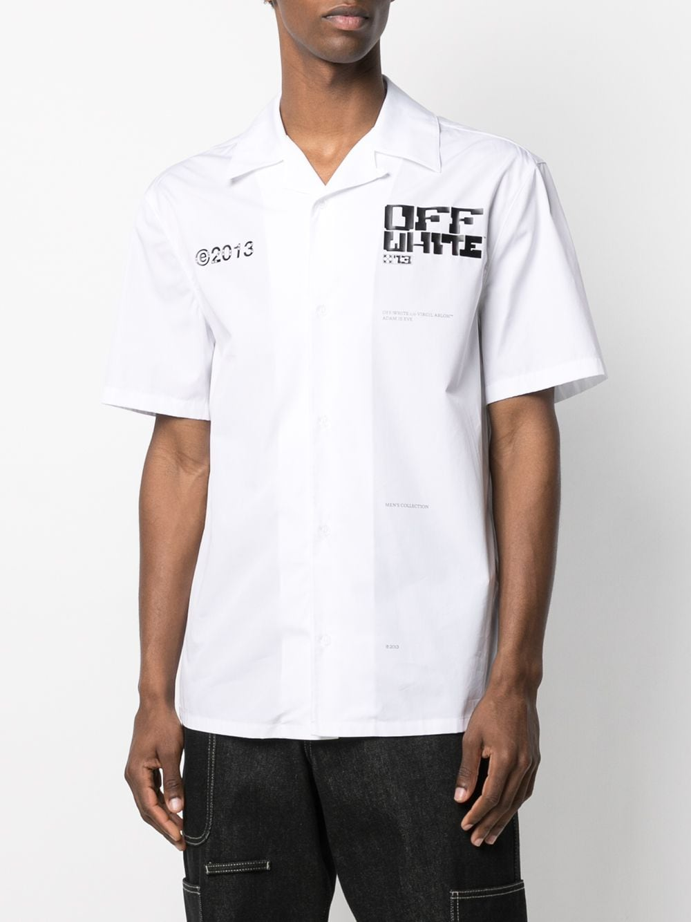 OFF-WHITE MEN TECH MARKER HOLIDAY SHIRT