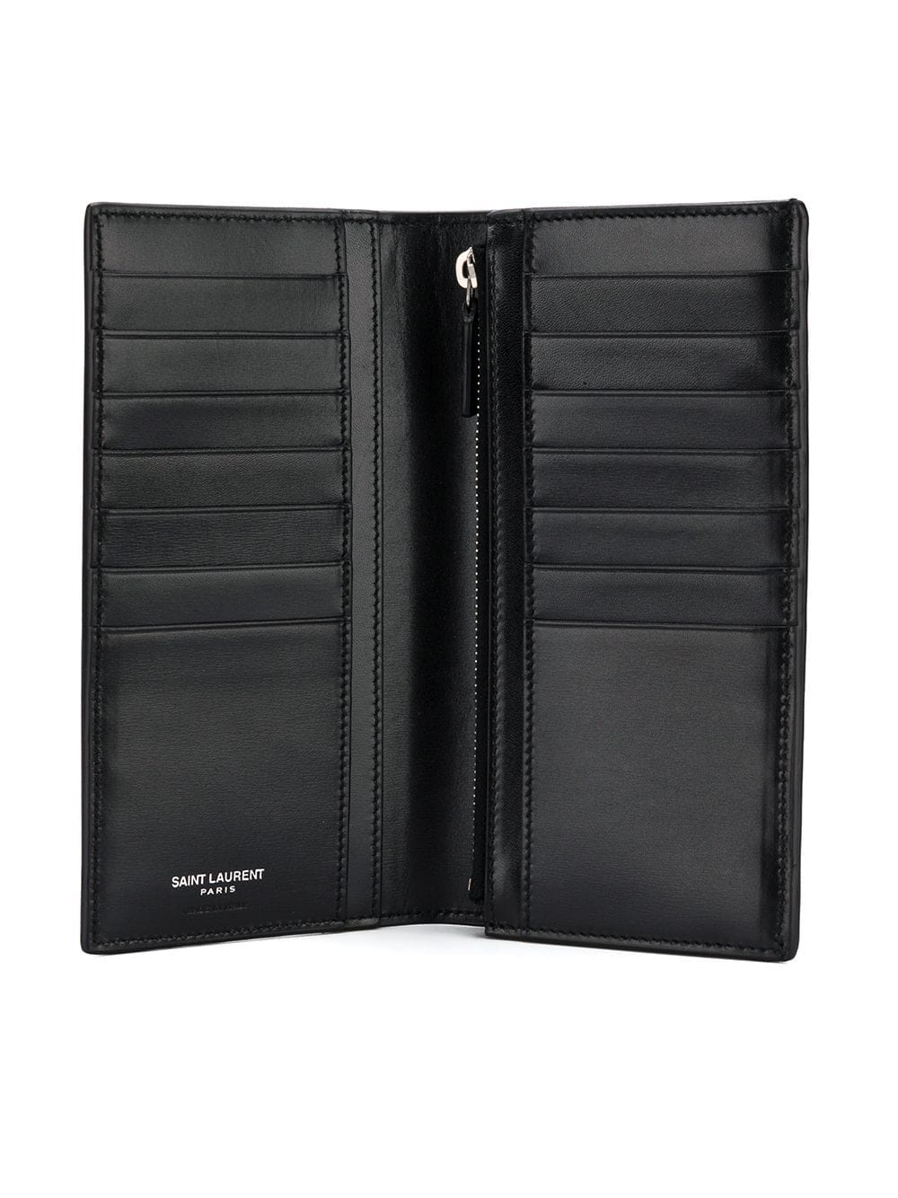 SAINT LAURENT SINGLE FOLD LOGO LONG WALLET